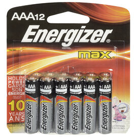 Energizer Max AAA Batteries - 12 pack