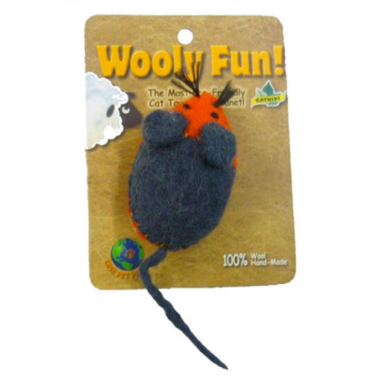 Wooley Fun Mouse Cat Toy - Assorted