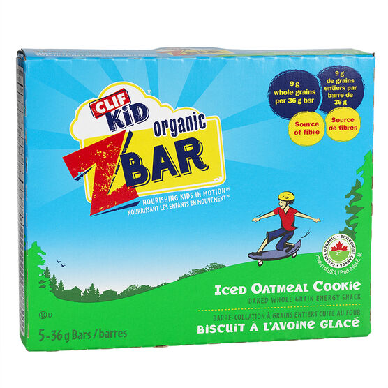 Clif Kid Organic Zbar - Oatmeal Cookie - 5 pack