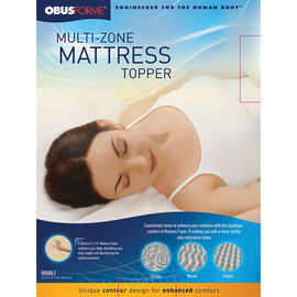 ObusForme Multi Zone Mattress Topper - Double