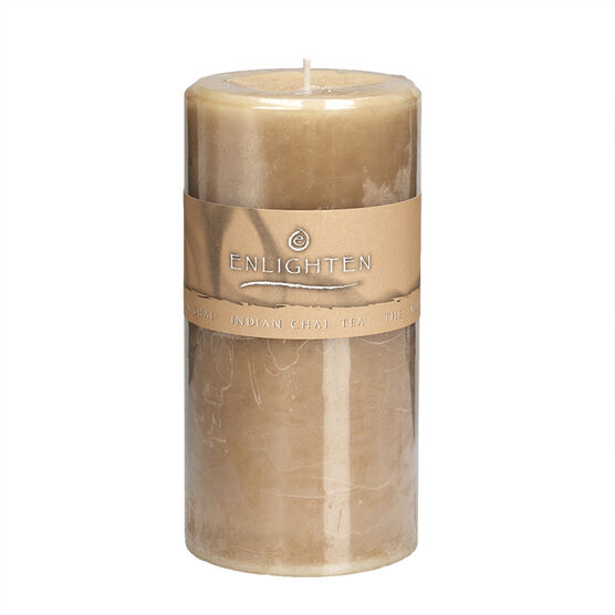 Enlighten Pillar Candle - Indian Chai - 3 x 6inch