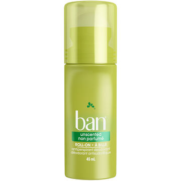 Ban Roll On Antiperspirant - Unscented - 45ml