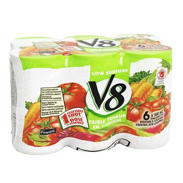 V8 Low Sodium Vegetable Cocktail - 6x156ml
