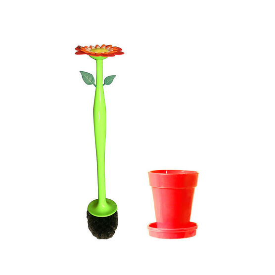 Vigar Flower Toilet Brush - Red/Green - 18.9inch