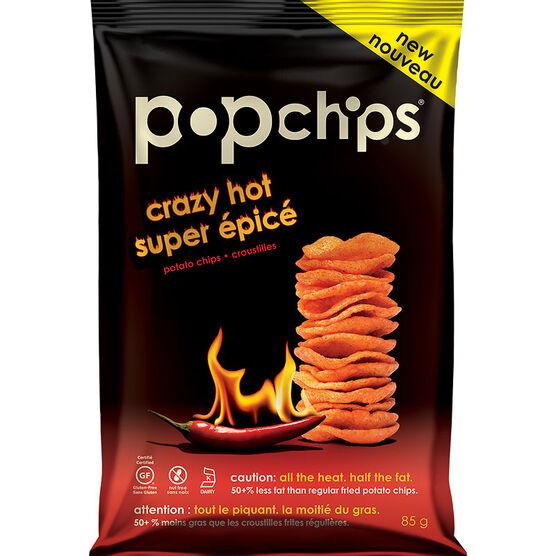 Popchips Popped Chip Snack - Crazy Hot - 85g