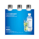 SodaStream Carbonating Bottle - Grey - 3 x 1L