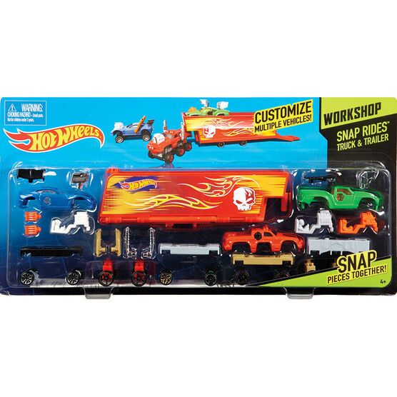 Hot Wheels Snap Rides Truck & Trailer