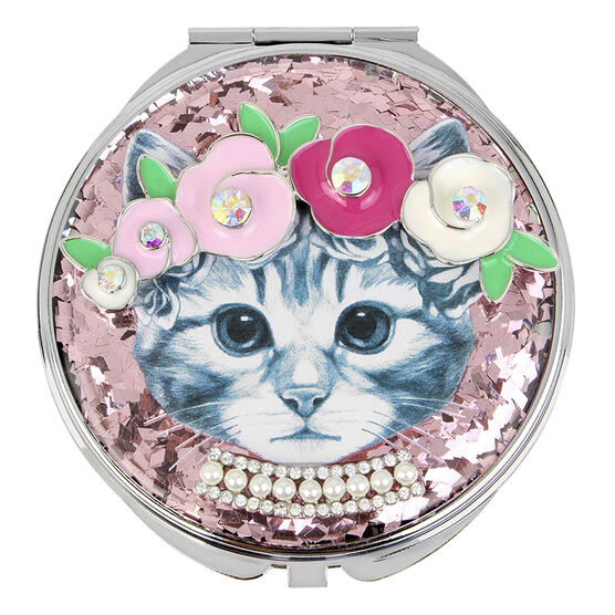 Betsey Johnson Kitty Compact - Pink