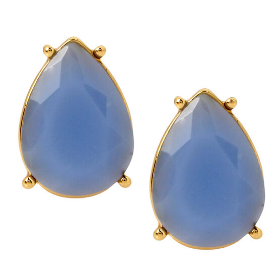 Haskell Stud Earrings - Blue/Gold