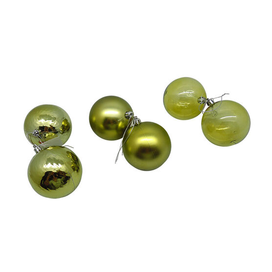 Solid Colour Ball Ornament - Set of 2 - CE2904-101S2 - Assorted