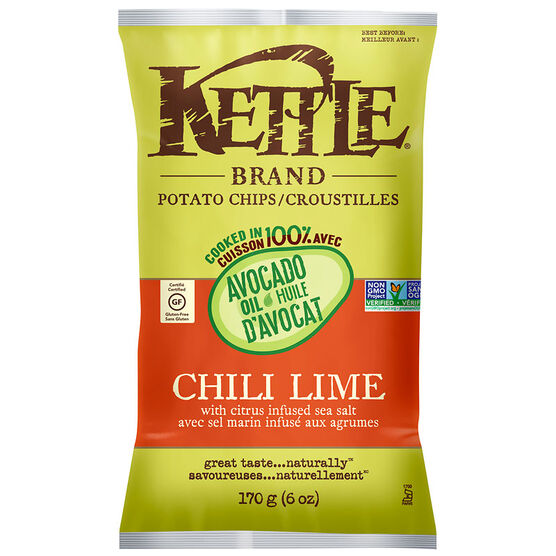 Kettle Brand Potato Chips - Chili Lime - 170g