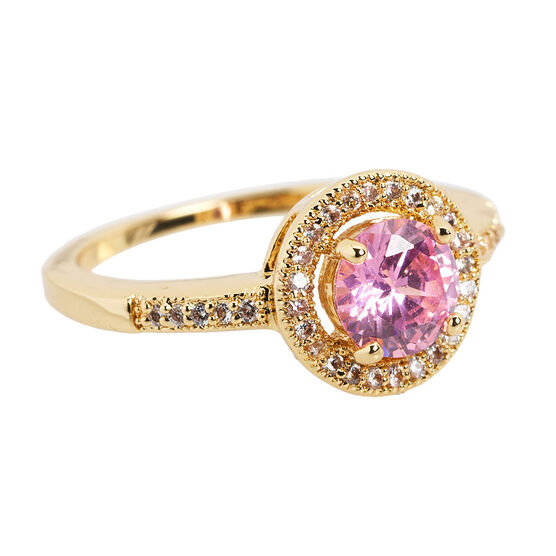 Marca 18K Gold Plated Ring - Size 7