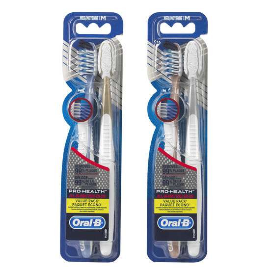 Oral-B CrossAction Pro-Health Toothbrushes - 40/Medium - 2 pack