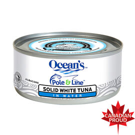 Ocean's Pole & Line Solid White Tuna in Water - 170g