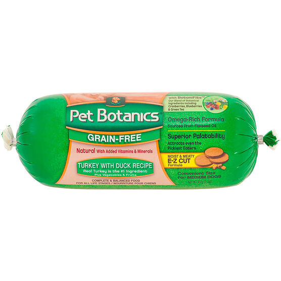 Pet Botanics Grain-Free Complete Balanced Dog Food - Turkey with Duck - 907g