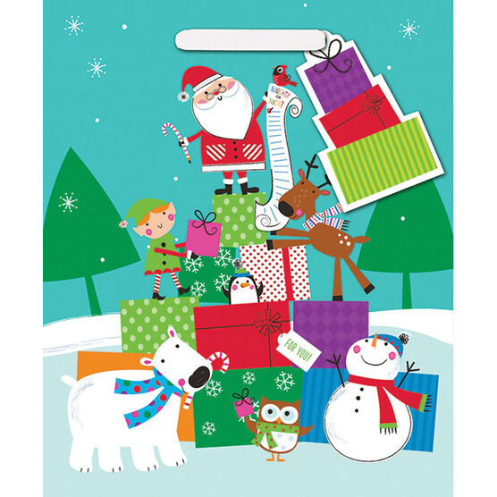 Santa and Friends Christmas Gift Bag - Jumbo - 14243573-BARO