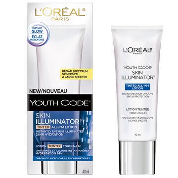 L'Oreal Youth Code Skin Illuminator Tinted Lotion - SPF 20 - 40ml