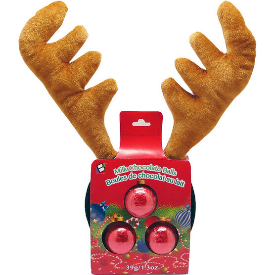 Brand Unlimited Milk Chocolate Balls with Reindeer Antlers - 39g