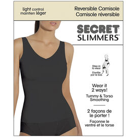 Secret Slimmers Reversible Camisole - C - Black