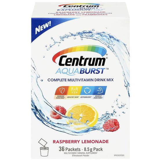 Centrum Aquaburst Multivitamin Drink Mix - Raspberry Lemonade - 36's