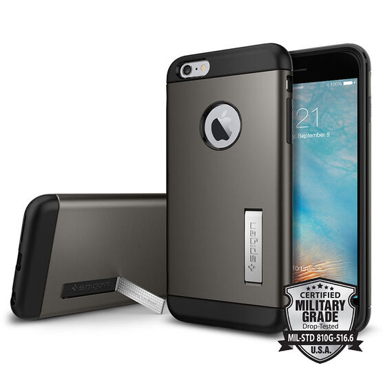 Spigen Slim Armor for iPhone 6 Plus - Gunmetal - SGP11651
