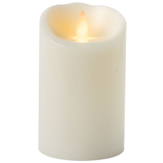 iFlicker Flameless Pillar Candle - Cream - 3 x 5inch