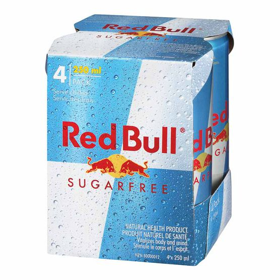 Red Bull - Sugar Free - 4 x 250ml
