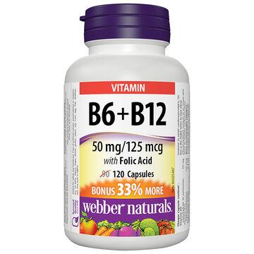 Webber Naturals Vitamin B6 & B12 with Folic Acid - 90's