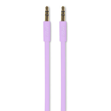 Logiix Flat Flex Auxiliary Cable - Limited Edition - Lavender - LGX12216