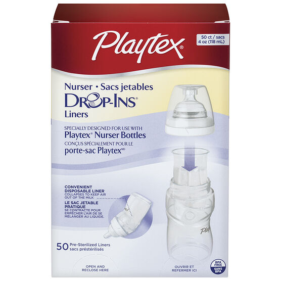 Playtex Disposable Drop-In Liners - 118ml - 50's