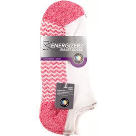 Energizers Massaging Sole Ladies Sport Socks - 2 pairs - Pink/White
