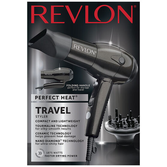 Revlon Perfect Heat Nano Diamond Travel Dryer - RVDR5163F