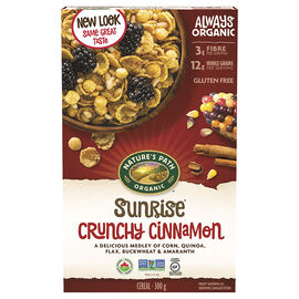 Natures Path Organic Cereal - Sunrise Crunchy Cinnamon - 300g