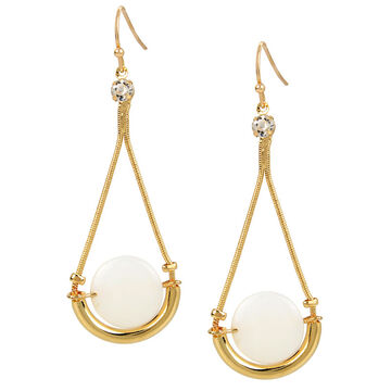 Haskell Chain Bar Earrings - Gold