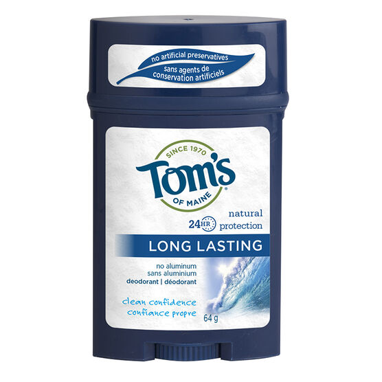 Tom's of Maine Long Lasting Men's Deodorant Stick - Clean Confidence - 64 g