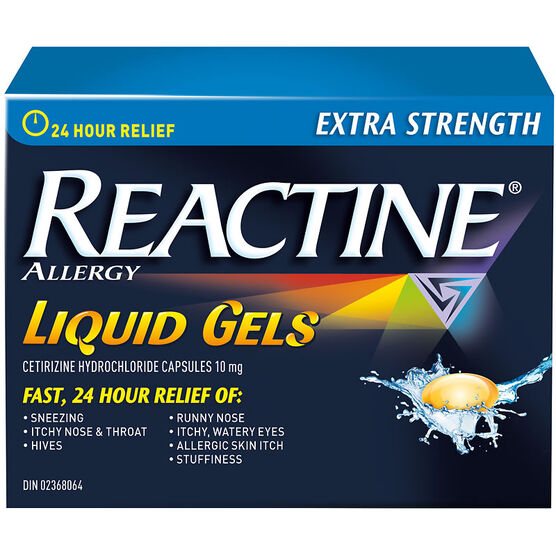 Reactine Allergy Liqui-Gels - Non-Drowsy - 24 Hour - 10mg/25's