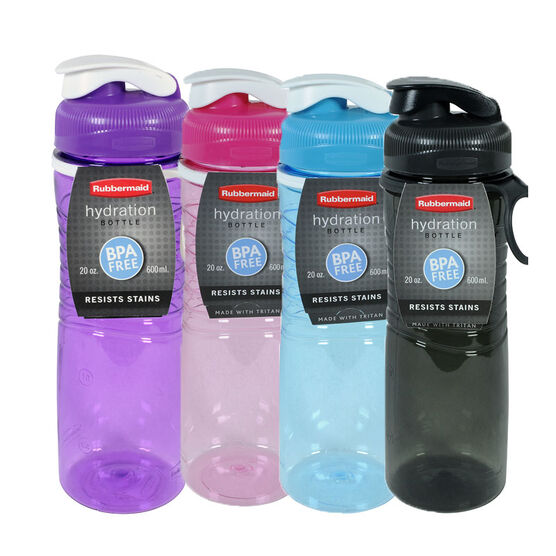 Rubbermaid Tritan Chug Bottle - 600ml - Assorted