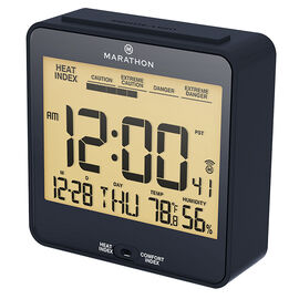 Marathon Atomic Desk Clock - CL030054BL