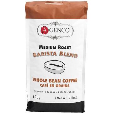 A. Genco Medium Roast Barista Blend - Whole Bean Coffee - 908g