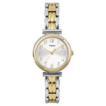 Timex Mid Size Fashion Watch - Silver/Gold - T2P201GP