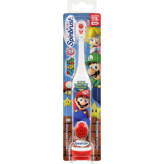 Arm & Hammer Spinbrush Kids Battery Toothbrush - Super Mario