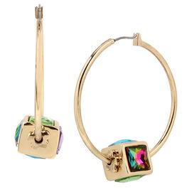 Betsey Johnson Cube Hoop Earring - Multi
