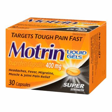 Motrin IB Liquid Gels - Super Strength 400mg - 30's