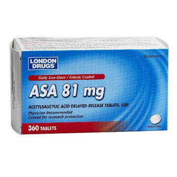 London Drugs ASA Daily - 81mg Low-Dose - 360's