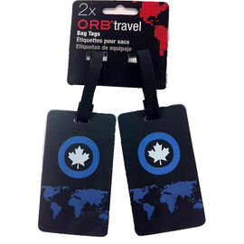 Orb Luggage Tags - Earth - 2 Pack - Blue/Grey - BTEA205