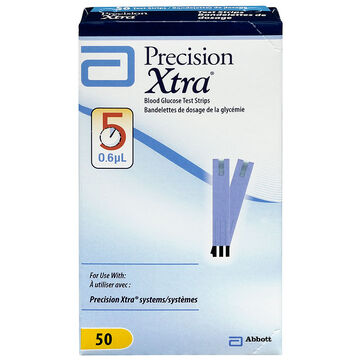 Abbott Precision Xtra Blood Glucose Test Strips - 50's