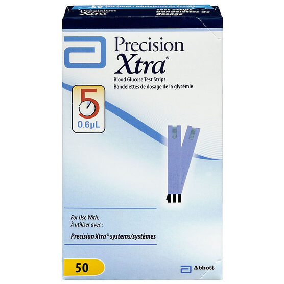 Abbott Precision Xtra Blood Glucose Test Strips - 50's