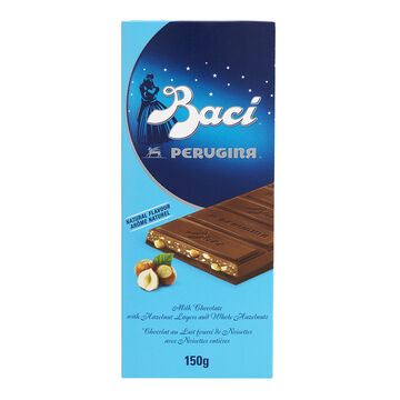 Perugina Baci Milk Chocolate Bar with Hazelnuts - 150g