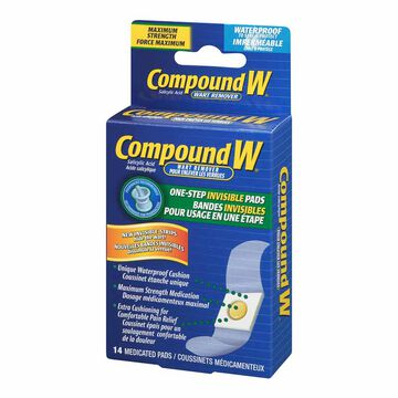 Compound W One Step Invisible Pads Wart Remover - 14's