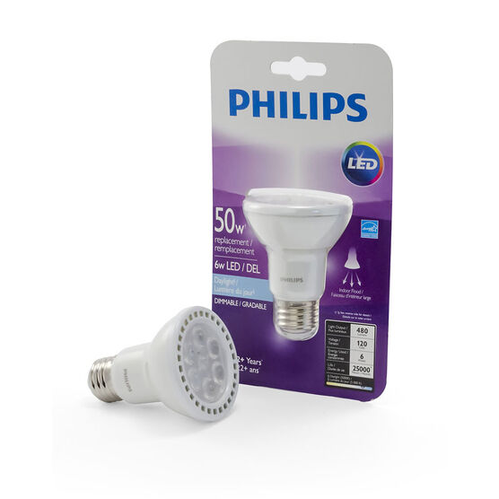 Philips PAR20 LED Light Bulb - Daylight - 6w/50w